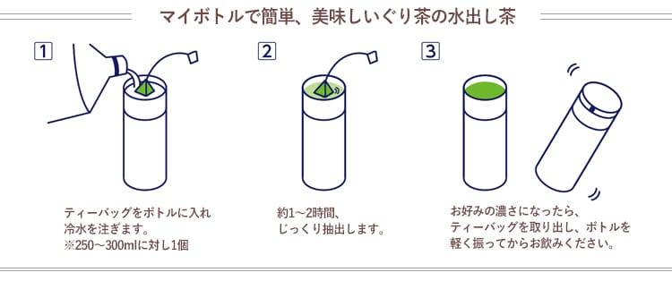 マイボトルで水出し茶の作り方